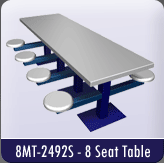 8MT-2492S - 8 Seat Table